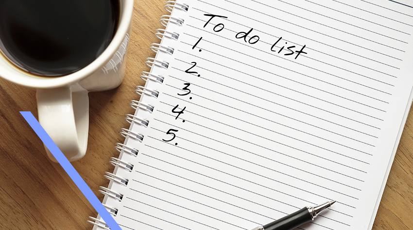 To do list with coffee